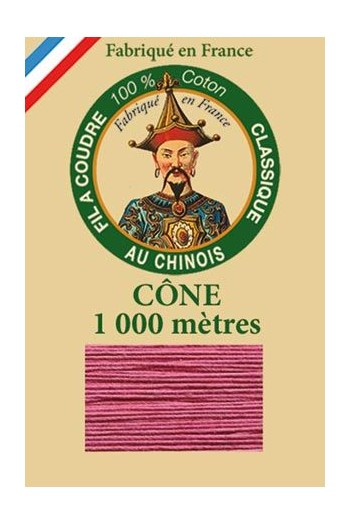 Fil Au Chinois cotton sewing thread 1000m cone 6597 - Rosewood