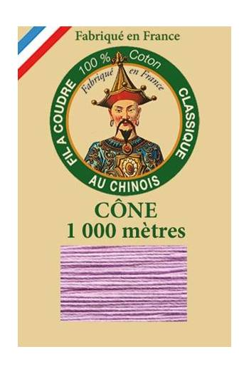 Fil Au Chinois cotton sewing thread 1000m cone 6603 - Lilac