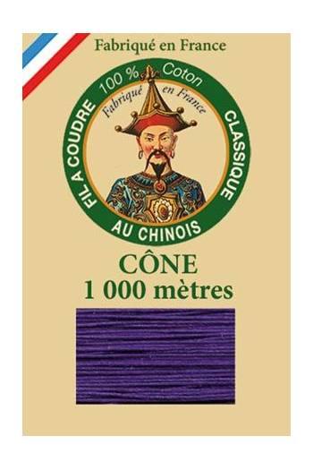 Fil Au Chinois cotton sewing thread 1000m cone 6631 - Violet