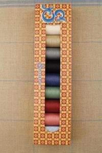 Sajou box eight spools Fil Au Chinois patchwork thread