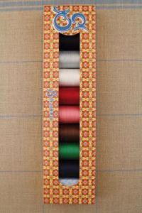 Sajou box eight spools Fil Au Chinois cotton thread
