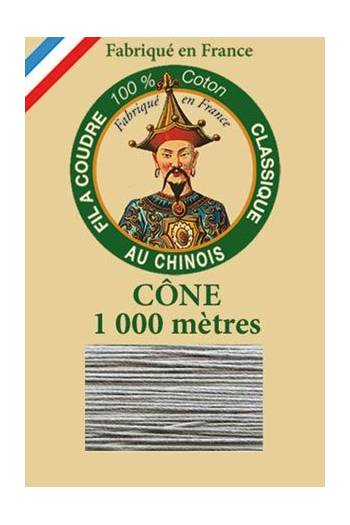 Fil Au Chinois cotton sewing thread 1000m cone 6125 - Steel