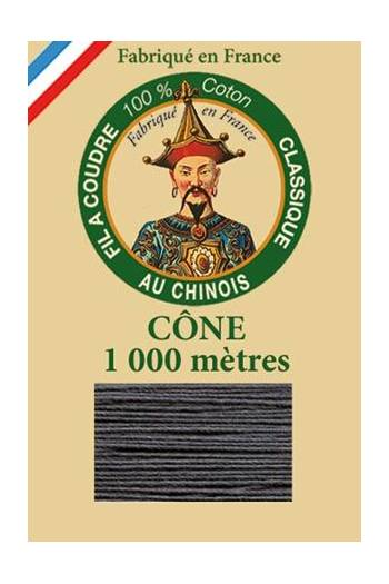 Fil Au Chinois cotton sewing thread 1000m cone 6155 - Anthracite
