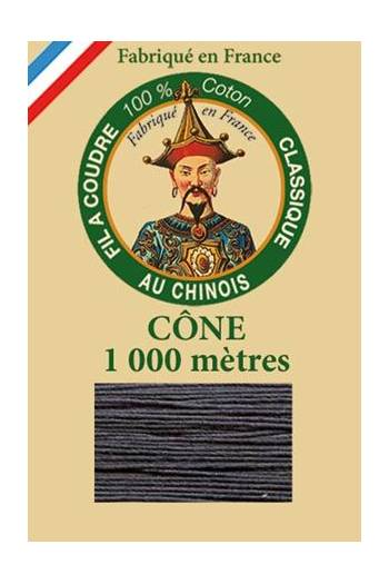 Fil Au Chinois cotton sewing thread 1000m cone 6147 - Cast iron