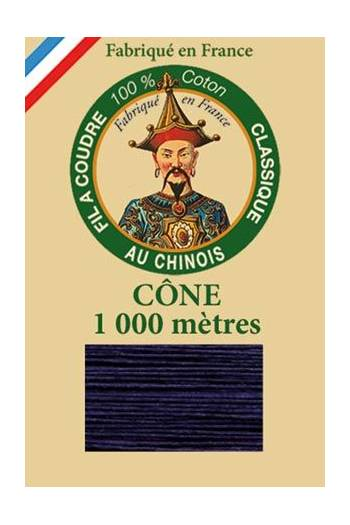 Fil Au Chinois cotton sewing thread 1000m cone 6564 - Navy blue