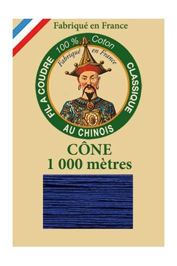 Fil Au Chinois cotton sewing thread 1000m cone 6747 - Sapphire