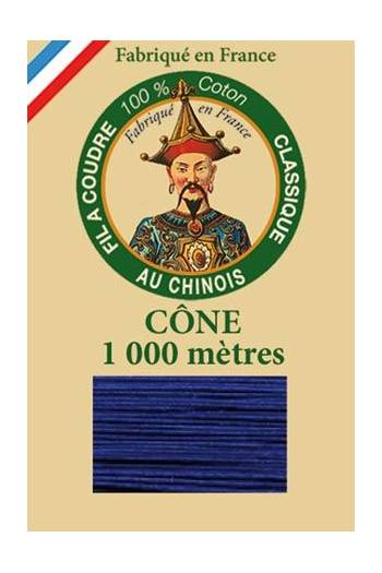 Fil Au Chinois cotton sewing thread 1000m cone 6749 - Night