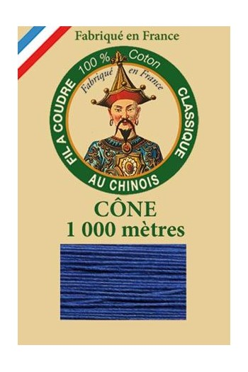 Fil Au Chinois cotton sewing thread 1000m cone 6790 - Royal blue