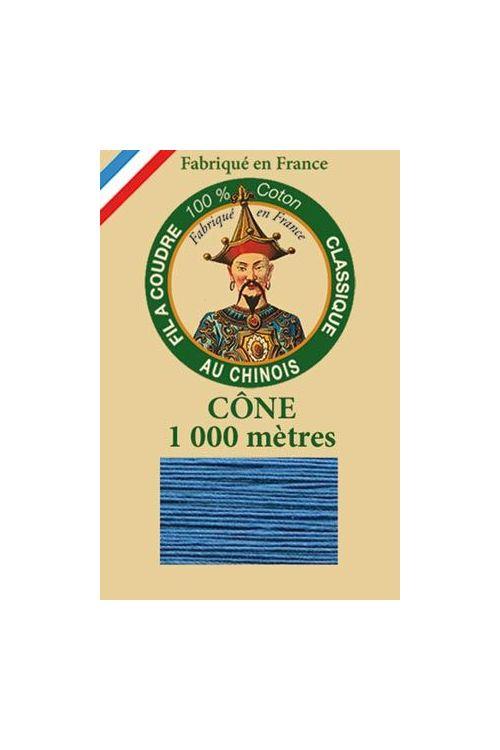 Fil Au Chinois cotton sewing thread 1000m cone 6760 - Enamel