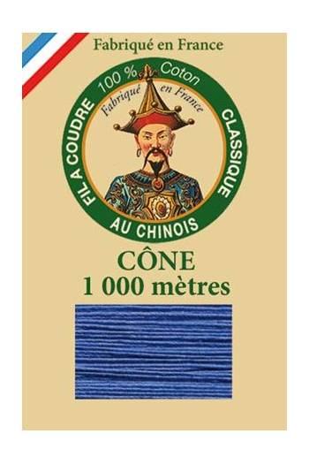 Fil Au Chinois cotton sewing thread 1000m cone 6733 - Nattier blue