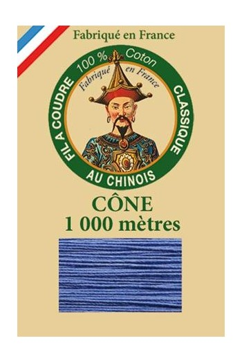 Fil Au Chinois cotton sewing thread 1000m cone 6731 - Cornflower