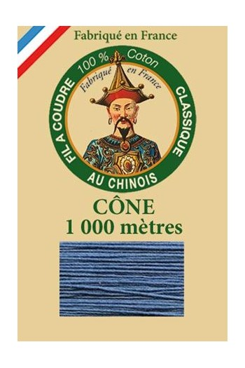 Fil Au Chinois cotton sewing thread 1000m cone 6732 - Ocean