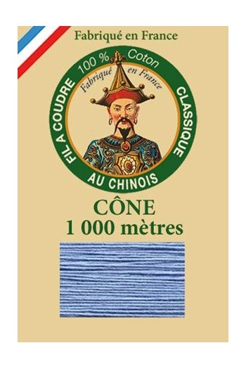 Fil Au Chinois cotton sewing thread 1000m cone 6752 - Periwinkle