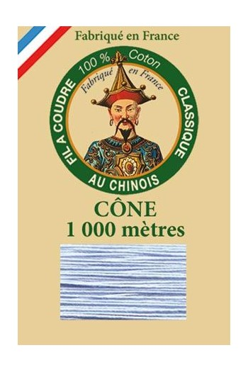 Fil Au Chinois cotton sewing thread 1000m cone 6750 - Sky blue