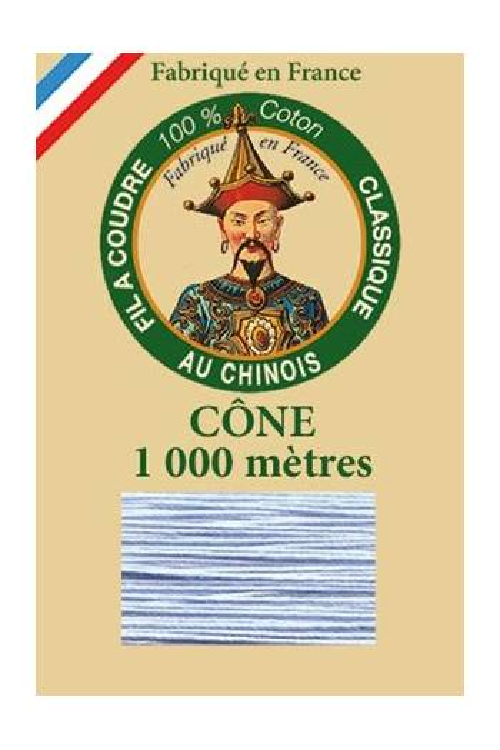 Fil à coudre coton mercerisé cône 1 000 m Col. 6750 - Ciel