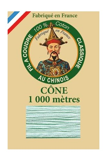 Fil Au Chinois cotton sewing thread 1000m cone 6802 - Jade