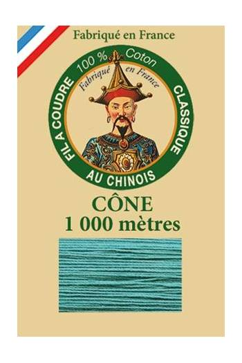 Fil Au Chinois cotton sewing thread 1000m cone 6781 - Emerald