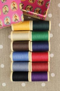 Box of 12 spools Assortment 4- bright tones Patchwork thread