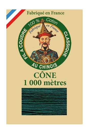 Fil Au Chinois cotton sewing thread 1000m cone 6879 - Chrome