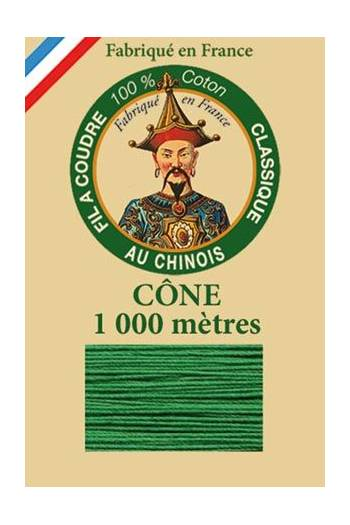 Fil Au Chinois cotton sewing thread 1000m cone 6867 - Green