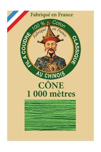 Fil Au Chinois cotton sewing thread 1000m cone 6871 - Lawn