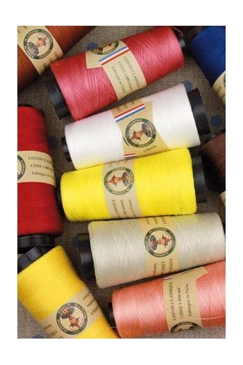 Fil Au Chinois cotton sewing thread 1000m cones