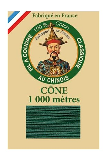 Fil Au Chinois cotton sewing thread 1000m cone 6889 - Garden