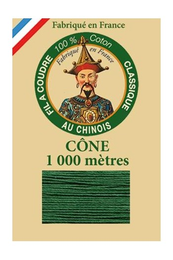Fil Au Chinois cotton sewing thread 1000m cone 6878 - Pine