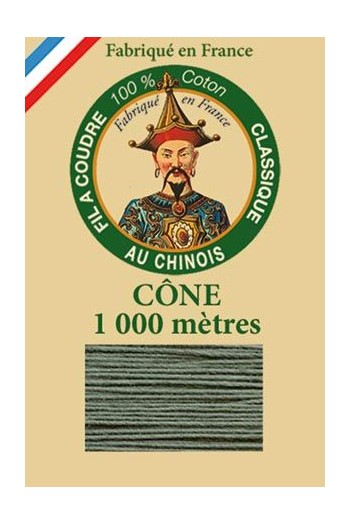 Fil Au Chinois cotton sewing thread 1000m cone 6814 - Lichen