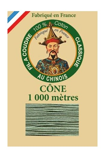Fil Au Chinois cotton sewing thread 1000m cone 6803 - Verdigris