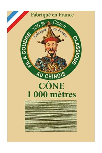 Fil Au Chinois cotton sewing thread 1000m cone 6846 - Thyme