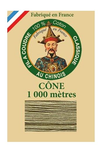 Fil Au Chinois cotton sewing thread 1000m cone 6297 - Beige