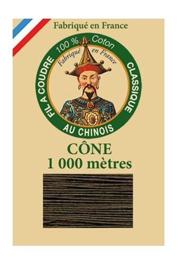 Fil Au Chinois cotton sewing thread 1000m cone 6839 - Vulture