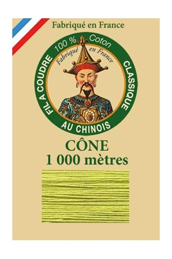Fil Au Chinois cotton sewing thread 1000m cone 6835 - Lime