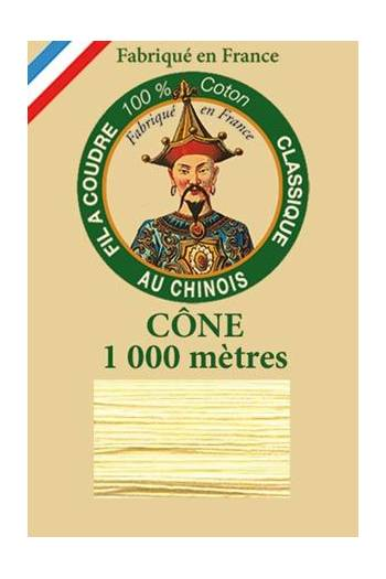 Fil Au Chinois cotton sewing thread 1000m cone 6323 - Lily