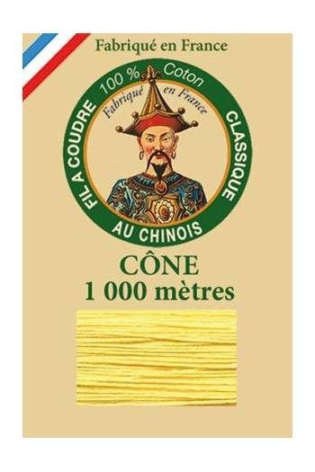 Fil Au Chinois cotton sewing thread 1000m cone 6335 - Orpiment