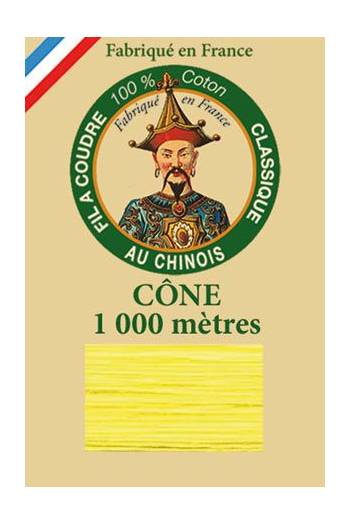 Fil Au Chinois cotton sewing thread 1000m cone 6327 - Canary