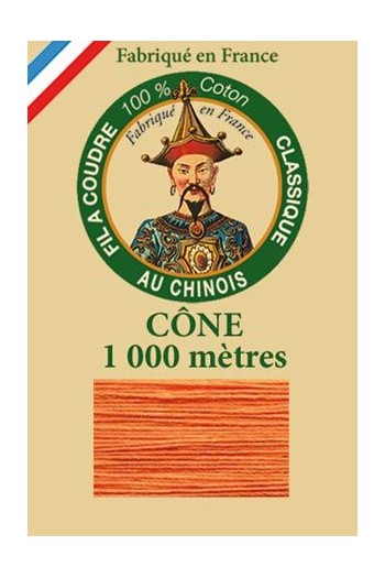Fil Au Chinois cotton sewing thread 1000m cone 6390 - Marigold