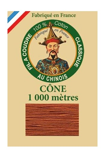 Fil Au Chinois cotton sewing thread 1000m cone 6424 - Rust