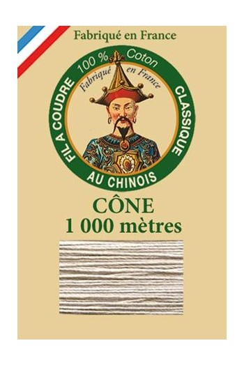 Fil Au Chinois cotton sewing thread 1000m cone 6294 - Deer