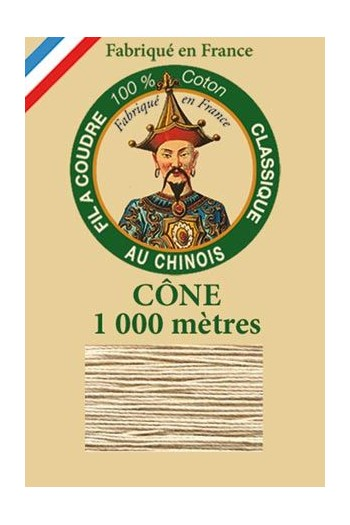 Fil Au Chinois cotton sewing thread 1000m cone 6212 - Resin