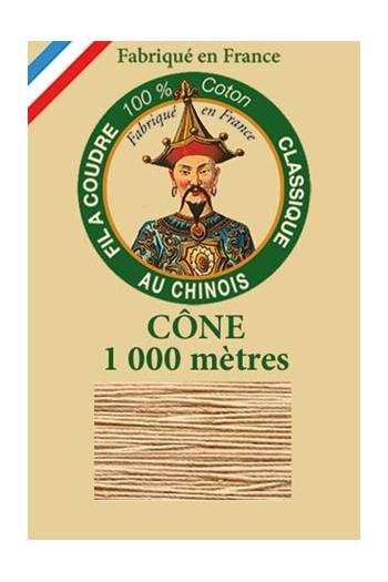 Fil Au Chinois cotton sewing thread 1000m cone 6266 - Putty