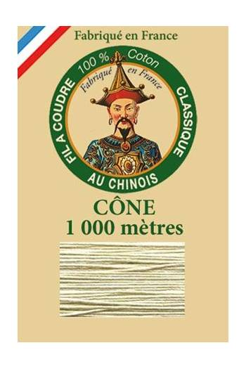 Fil Au Chinois cotton sewing thread 1000m cone 6272 - Perle