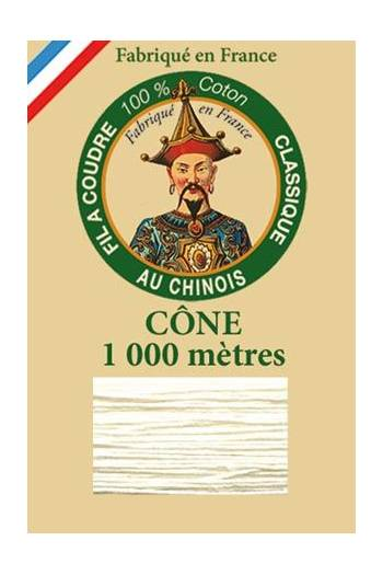 Fil Au Chinois cotton sewing thread 1000m cone 6270 - Mother of pearl