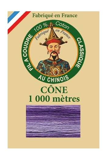 Fil Au Chinois cotton sewing thread 1000m cone 6945 - Pansy