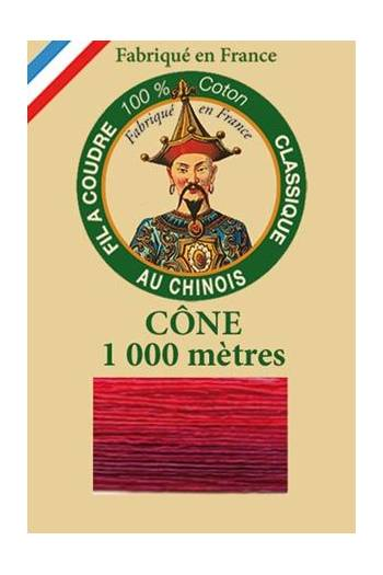 Fil Au Chinois cotton sewing thread 1000m cone 6932 - Fire
