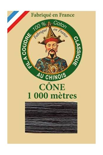 Fil Au Chinois cotton sewing thread 1000m cone 6925 - Liquorice