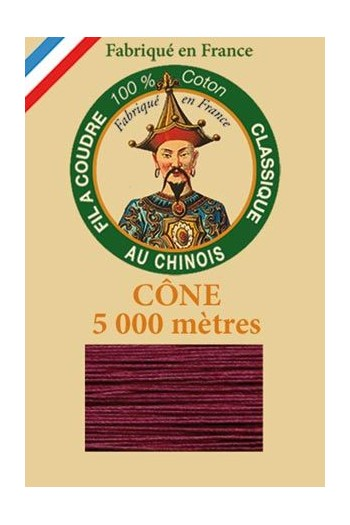Fil Au Chinois cotton sewing thread 5 000m cone 6548 - Aubergine