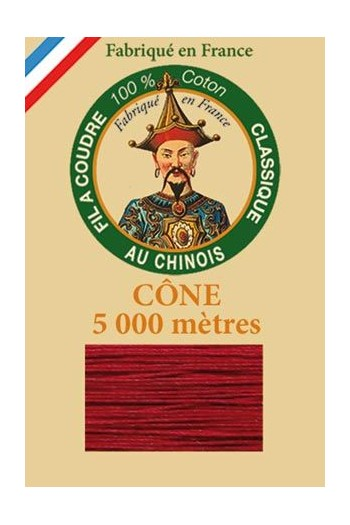 Fil Au Chinois cotton sewing thread 5 000m cone 6536 Geranium