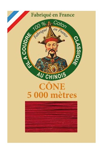 Fil Au Chinois cotton sewing thread 5 000m cone 6534 Crimson